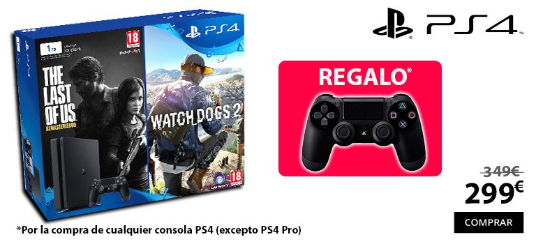 oferta ps4 regalo dualshock 4