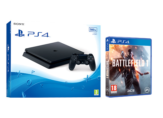 ps4 slim  500gb battelfield 1