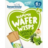 Barritas Heavenly Yummy Wafer Wisps Espinacas, Manzana y Col  84g