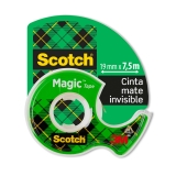 Cinta Invisible en Portarrollos 19x7,5m Scotch