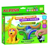 Pasta de Modelar Animales 6x40 gr Alpino Magic Dough