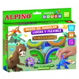 Pasta de Modelar Dinosaurios 6x40 gr Alpino Magic Dough