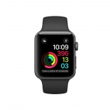 Apple Watch Series 1 Caja de 38 mm de Aluminio en Gris Espacial y Correa Deportiva Negra