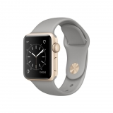 Apple Watch Series 2 Caja de 38 mm de Aluminio en Oro y Correa Deportiva Gris Cemento