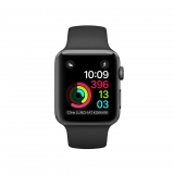 Apple Watch Series 2 Caja de 38 mm de Aluminio en Gris Espacial y Correa Deportiva Negra