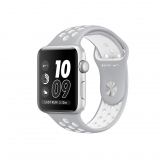 Apple Watch Nike + Caja de 38 mm de Aluminio Color Plata con Correa Deportiva Nike Color Plata Mate/Blanco