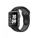 Apple Watch Nike + Caja de 38 mm de Aluminio Color Gris Espacial con Correa Deportiva Nike Color Negra/Gris Azulado
