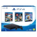 PS4 500GB Slim con Lego Vengadores, Lego Jurassic World y Ratchet&Clank
