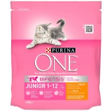 Menú Gato Purina One Junior con Pollo y Cereales Integrales 450 gr