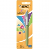 Bolígrafo de 4 Colores Retráctil Bic Fashion
