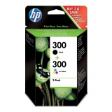 Pack Cartuchos de Tinta HP 300 - Negro y Color