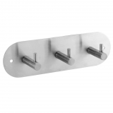 Percha triple de Metal CARREFOUR HOME   25,5cm  - Metalizado
