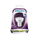 Bombilla LED No Regulable Dicroica Philips 3,5W = 35W GU10. Blanca