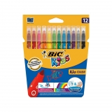 Blíster 12 Rotuladores de Color Bic Kid Couleur