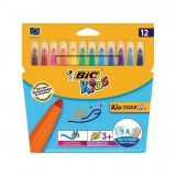 Blíster 12 Rotuladores de Color Bic Kid Couleur Xl