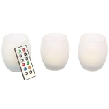 Set 3 Velas LED Color Cambiante