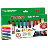 Estuche de 10 Rotuladores Alpino Supercolor