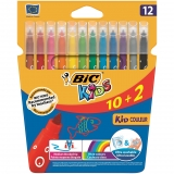 Blíster 12 Rotuladores de Colores Bic Kid Couleur