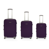 Set 3 Trolleys ABS Engomado, Lila