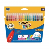 Blíster 18 Rotuladores de Color Lavables Bic