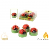 Pack 4 Mariquitas Tea Light con Citronella