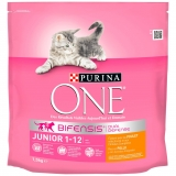 Menú Gato Purina One Junior Rico en Pollo y con Cereales Integrales 1,5Kg