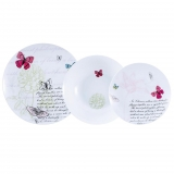Juego de Vajilla de Porcelana BRUNCHFIELD Butterfly 18pz - Decorado