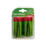 Pack de 2 Pilas Recargable Carrefour Hr20 (D)  3000 Mah