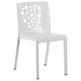 Silla Cocktail 41x45x82 cm. Blanca