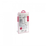 Pack de Cargador Ideus USB y Mechero - Blanco