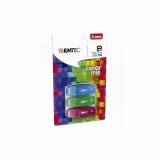 Pack 3 USB Emtec 8GB