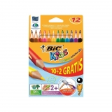 Caja de 12 Lápices de Colores Bic Evolution Triangle