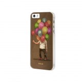 Carcasa Ideus con relieve 3D globos para iPhone 5