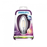 Bombilla LED Vela Filamento 25WE14