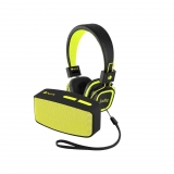 Pack Altavoz RollerFun  y Auriculares Artica Jelly  NGS - Amarillo