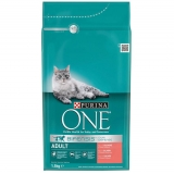 Menú Gato Purina One Adult Bifensis Rico en Salmon 1,5KG