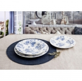 Vajilla 18 Piezas Toile Blue Churchil