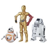 Pack de 3 Figuras Droides Star Wars - Carrefour