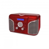 Radio CD Sunstech Retro CRPRD2600RD - Rojo