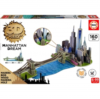Educa Borras - 3D Monument Puzzle Manhattan Dream