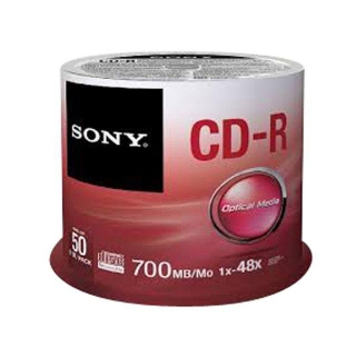 Pack 50 CDR Sony 700MB 80'
