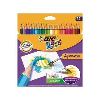 Estuche de 24 Lápices de Color Aquarelables Bic