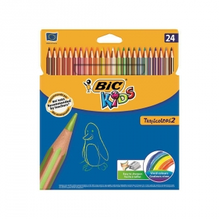 Estuche de 48 Lápices de Color Bic Tropicolors