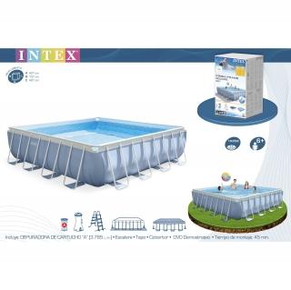 Piscina prisma frame 427x427x107cm las mejores ofertas de for Carrefour piscinas intex