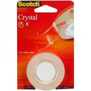 Cinta Supertransparente en Rollo 19x25m Scotch