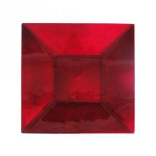 Bajoplato cuadrado melamina carrefour home 33cm rojo las - Vajilla cuadrada carrefour ...