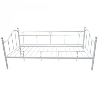 Div n cama de forja 197x90x97cm blanco las mejores - Cama tipo divan ...