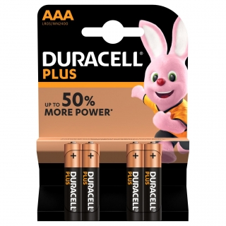 Pack de 4 Pilas Alcalinas Uso Frecuente Duracell Lr03 (Aaa) Plus