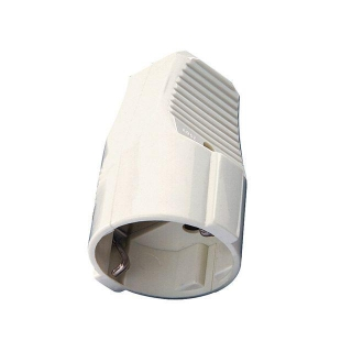 Base Movil Schuko 10a/16a. Blanca