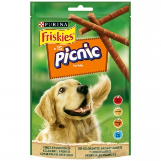 Snacks para perro PURINA FRISKIES Picnic pollo 126g